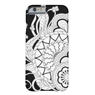 Black&white zen pattern with sends them, flowers barely there iPhone 6 case