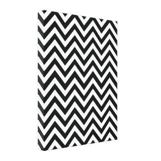 Black & White Zigzag Pattern Canvas Prints