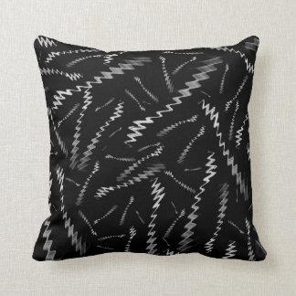Black White ZigZags Throw Pillow