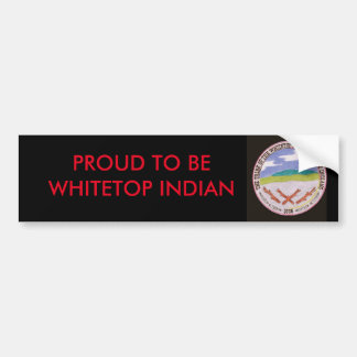 Black Whitetop Bumper Sticker