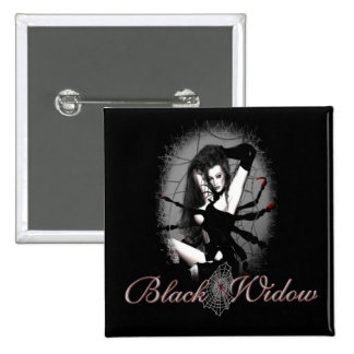 Black Widow 15 Cm Square Badge