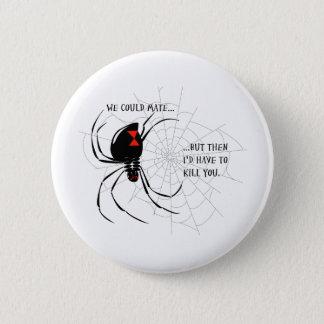 Black Widow 6 Cm Round Badge
