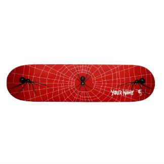 Black Widow and web combo Custom Skate Board