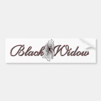 Black Widow Bumper Sticker