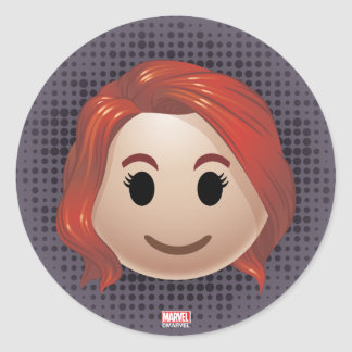Black Widow Emoji Classic Round Sticker