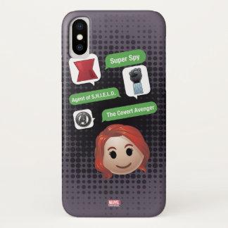 Black Widow Emoji iPhone X Case