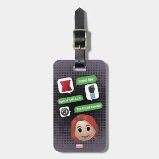 Black Widow Emoji Luggage Tag