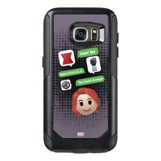 Black Widow Emoji OtterBox Samsung Galaxy S7 Case