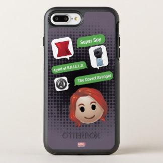 Black Widow Emoji OtterBox Symmetry iPhone 8 Plus/7 Plus Case