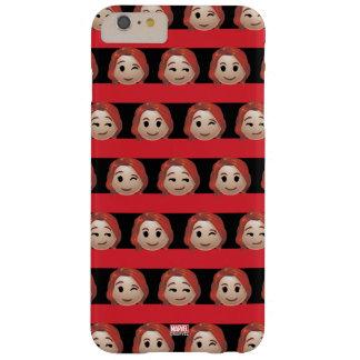 Black Widow Emoji Stripe Pattern Barely There iPhone 6 Plus Case
