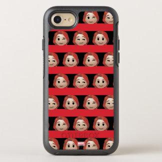 Black Widow Emoji Stripe Pattern OtterBox Symmetry iPhone 8/7 Case