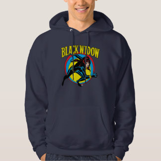 Black Widow Retro Character Art Graphic Hoodie