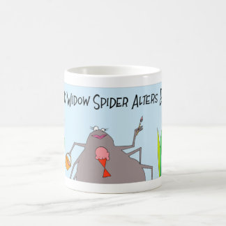 Black Widow spider gets a new tatoo Coffee Mug
