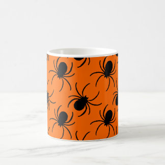 black widow spider halloween design coffee mug