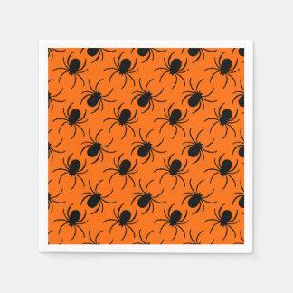black widow spider halloween design disposable napkin