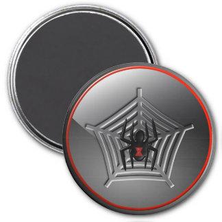 Black Widow Spider Web Halloween Fridge Magnet