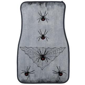 Black Widow Spider Web Halloween Gothic Car Mat