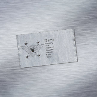 Black Widow Spider Web Halloween Gothic Magnetic Business Cards