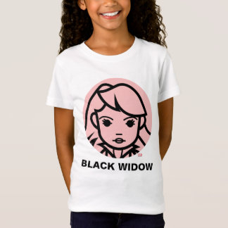 Black Widow Stylized Line Art Icon T-Shirt