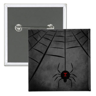Black Widow Web 15 Cm Square Badge