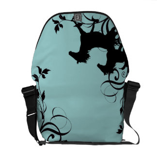 Black Wild Horses Courier Bag