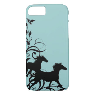 Black Wild Horses iPhone 7 Case