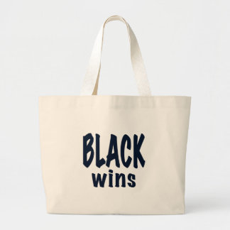 Black Wins, Obama wins election 2012 Canvas Bags