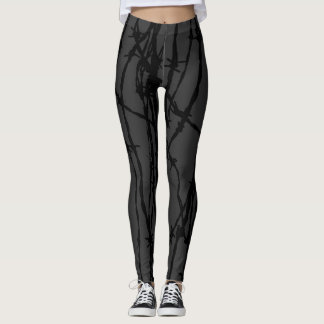 Black Wire Leggings