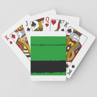 black wire playing cards
