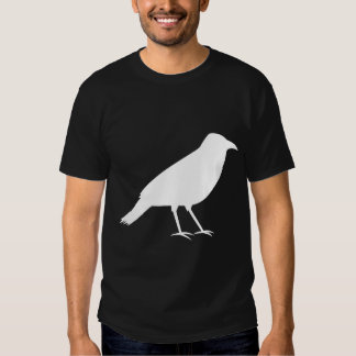 Black with a White Crow. Shirt
