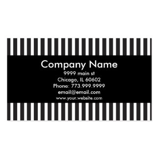 Black with Black & White Pinstripes Pack Of Standard Business Cards