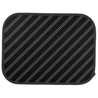 Black with Double Pin Stripes Rear Car Mat