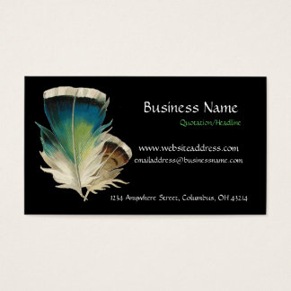 Black with Feathers Business Card