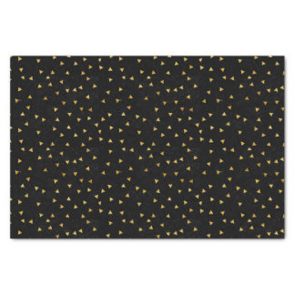 Black with Gold Sparkles Tissue Paper