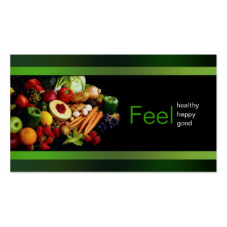 Black With Green Border Healthy Life/ Card Pack Of Standard Business Cards
