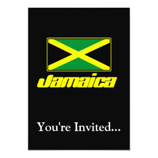 Black with Jamaica Flag Personalized Invites