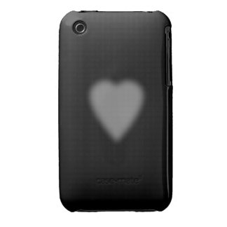 Black with Misty Heart Case-Mate iPhone 3 Case