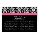 Black with Pink Passion Damask