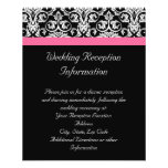 Black with Pink Passion Damask 11.5 Cm X 14 Cm Flyer