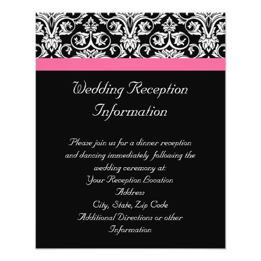Black with Pink Passion Damask Flyer Design