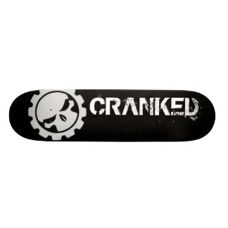 Black with White Cranked Skateboard Deck