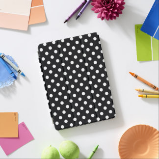 Black with white dots iPad pro cover