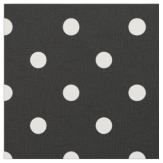 Black with White Polka Dots Cotton Fabric