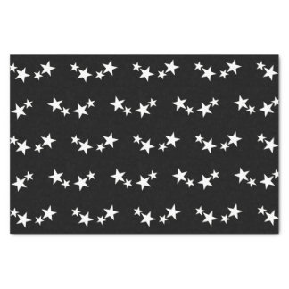 Black with white stars tissue paper