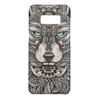 Black Wolf Head Tribal Illustration Case-Mate Samsung Galaxy S8 Case