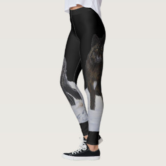 Black Wolf Leggings