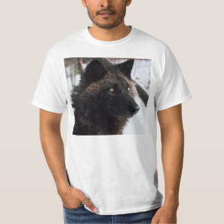 BLACK WOLF PHOTOGRAPH  T-SHIRT