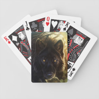 Black Wolf Playing Cards