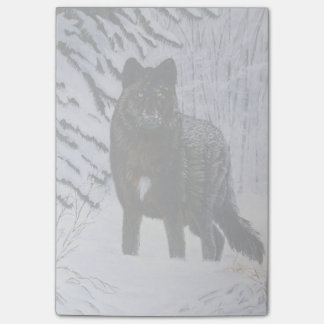 Black Wolf Post-it Notes