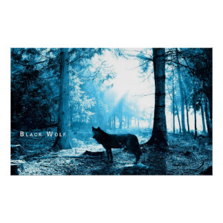 Black Wolf Posters